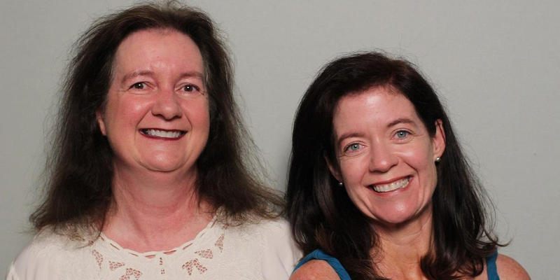 Mary Beth Hebert and Jen Geist intereviewed each other in the StoryCorps Atlanta booth.