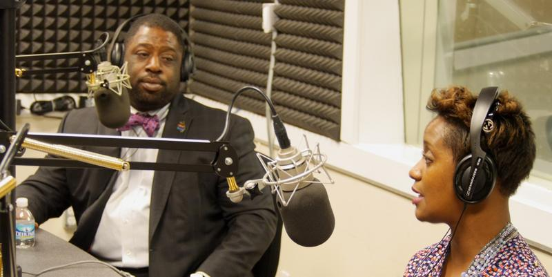 Commissioner Marvin Arrington Jr. and Daphne Jordon, Organizer of High Crimes in South Fulton, talk about a recently approved ordinance that requires gas stations with a history of crime to pay for extra security or face losing their liquor license.