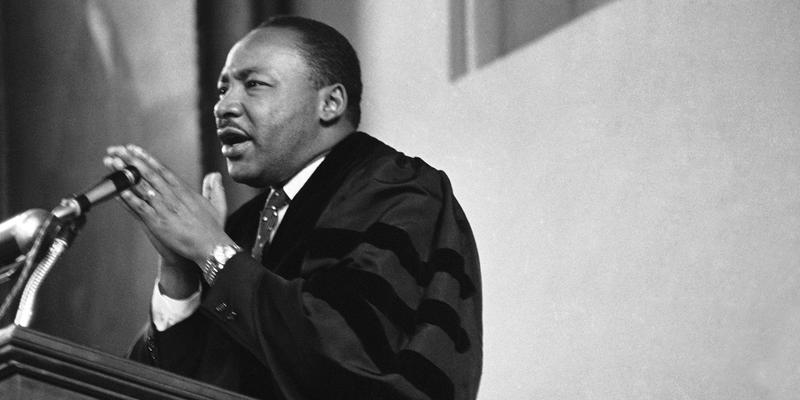 Dr. Martin Luther King Jr. speaks in 1964.