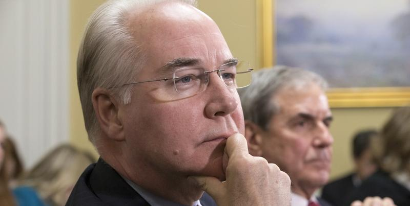 In this Jan. 5, 2016, file Rep. Tom Price, R-Ga., is seen on Capitol Hill in Washington.