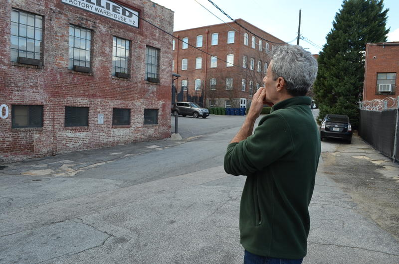 Atlanta has proposed making the dozen or so buildings around Means Street in west Atlanta a historic district. Bill Gould, who owns a loft there, is one of the few property owners who supports the idea.