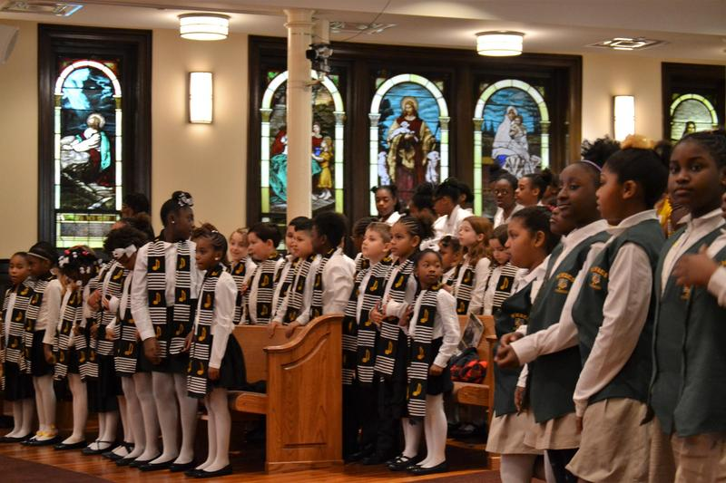 "Atlanta Public Schools students performed ""Lift Every Voice and Sing"" on Friday, Feb. 24, to celebrate Black History Month."