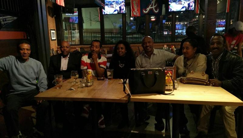 Falcons fans were upset after the crushing loss at the Rivals on Five sports bar in Stone Mountain.