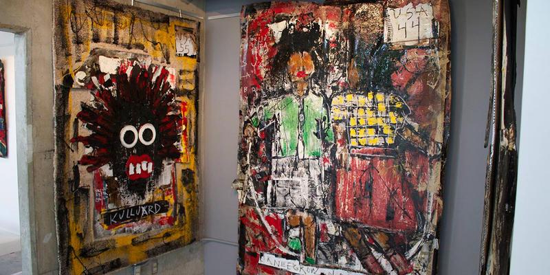 Artist Okeeba Jubalo's new exhibition is called ''The Dirty Dozen: Jim Crow Fantasies.''