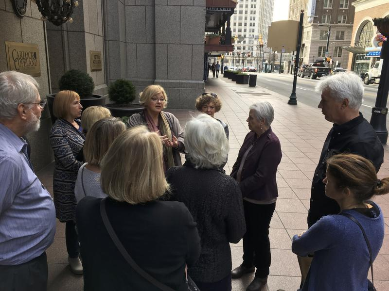 An Indivisible chapter in Atlanta called The Red Clay Rebellion met Tuesday in front of Senator David Perdue's downtown Atlanta office. The national movement is working to resist President Donald Trump's policies.