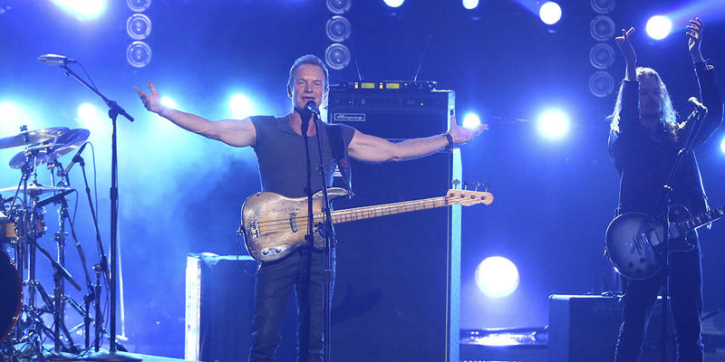 Sting is performing at the Tabernacle on Monday, Feb. 27.