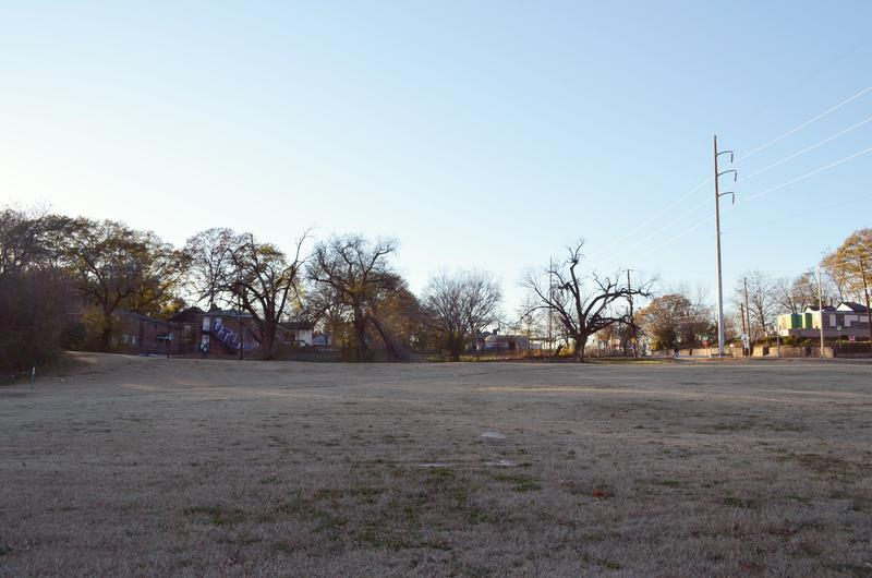 The site of a new park in Vine City. Recently, the project got tangled up in Atlanta's complicated past.