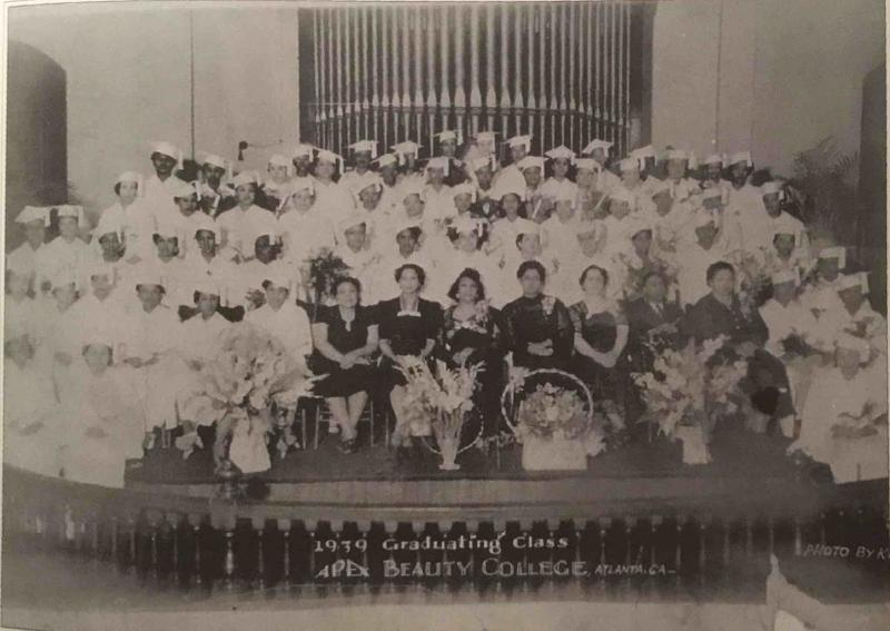 In 1939, Dr. Nathaniel Bronner Sr. was the only male graduate of Apex Beauty College on Auburn Avenue.
