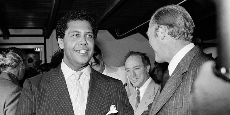 Atlanta Mayor Maynard Jackson is seen in Runaway Bay, Jamaica, during a mini-summit with national leaders, Dec. 1978.