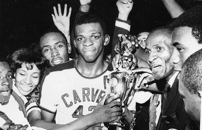 Carver High School won a basketball championship 50 years ago, a first for an all-black school just after integration.