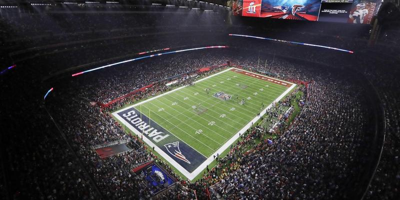 Fans fill the stadium during the second half of the NFL Super Bowl 51 football game between the Atlanta Falcons and the New England Patriots, Sunday, Feb. 5, 2017, in Houston.
