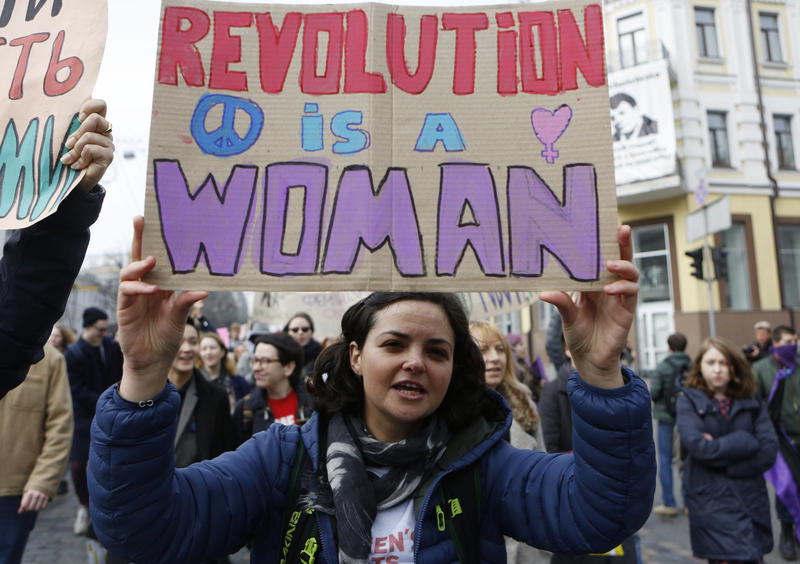 International Women's Day marches are taking place around the world. In Atlanta, women will gather at Candler Park Wednesday evening.