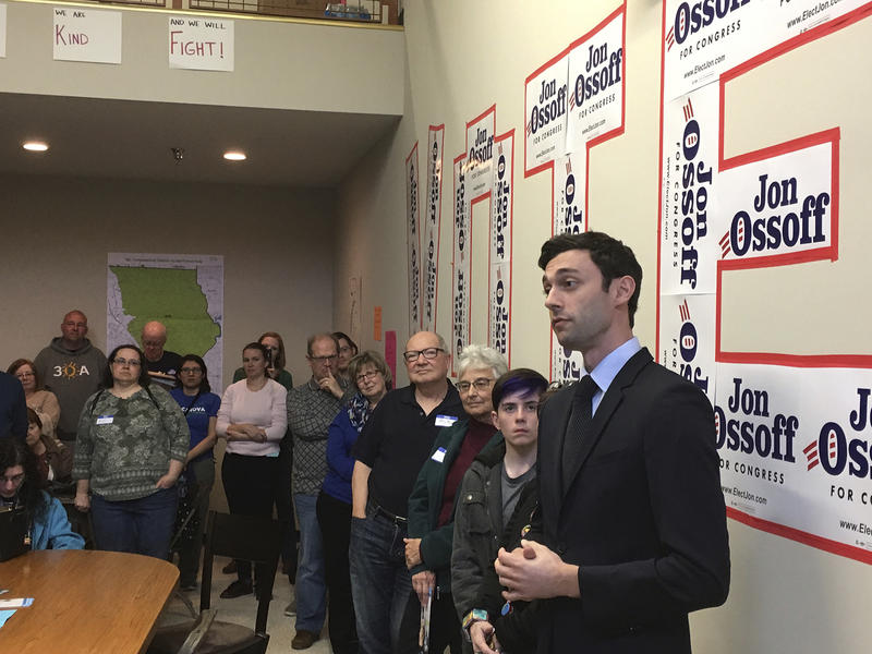 Jon Ossoff is trying for an upset in a Republican-leaning district outside Atlanta.