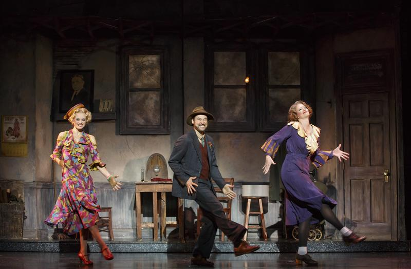 Michael Santora (middle) and Erin Fish (right) play the villainous Hannigans in the musical.