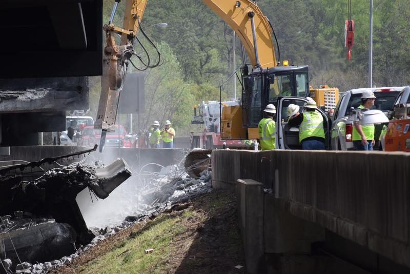 Georgia Department of Transportation construction director Marc Mastronardi said Tuesday that the federal government is expected to pay 90 percent of the costs related to the Interstate 85 reconstruction.
