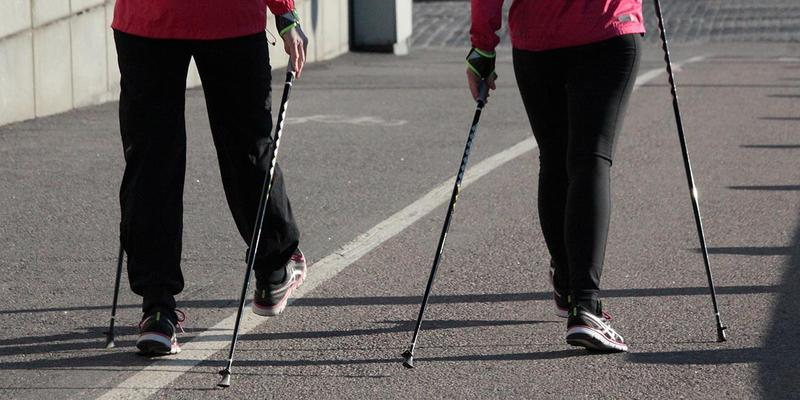 Nordic pole walking changes your gait, which can lead to a lot of health benefits.