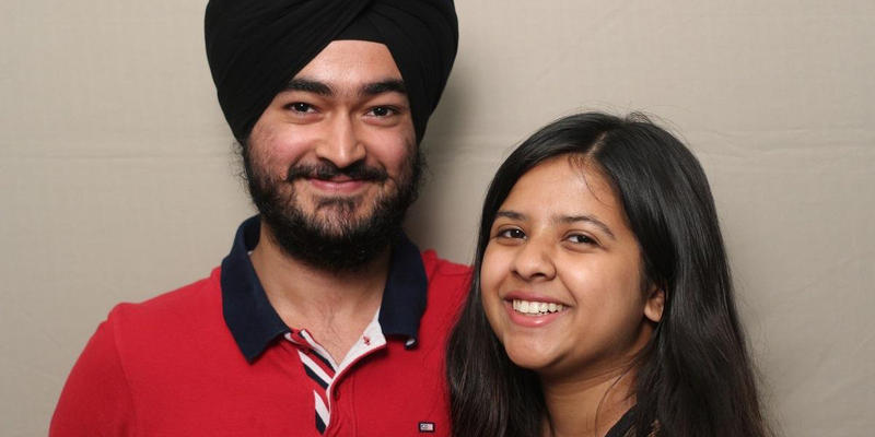 Ishbir Singh and Maithili Appalwar talked about Singh's experience studying abroad in the StoryCorps Atlanta booth.