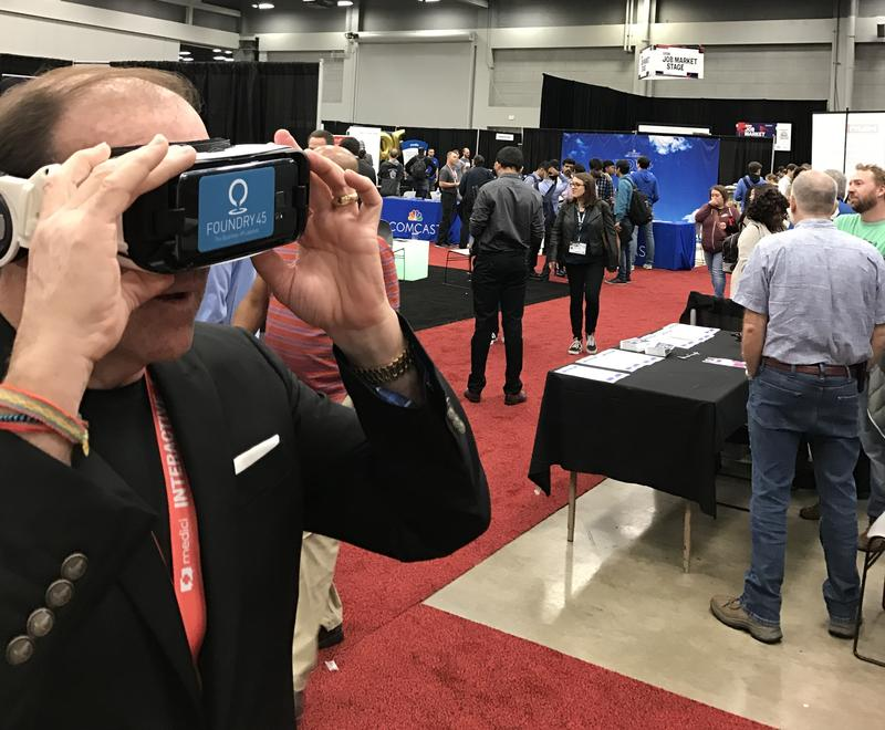 At the South by Southwest festival, participants stopped by the Metro Atlanta Chamber of Commerce booth and put on virtual reality headsets to experience Atlanta.