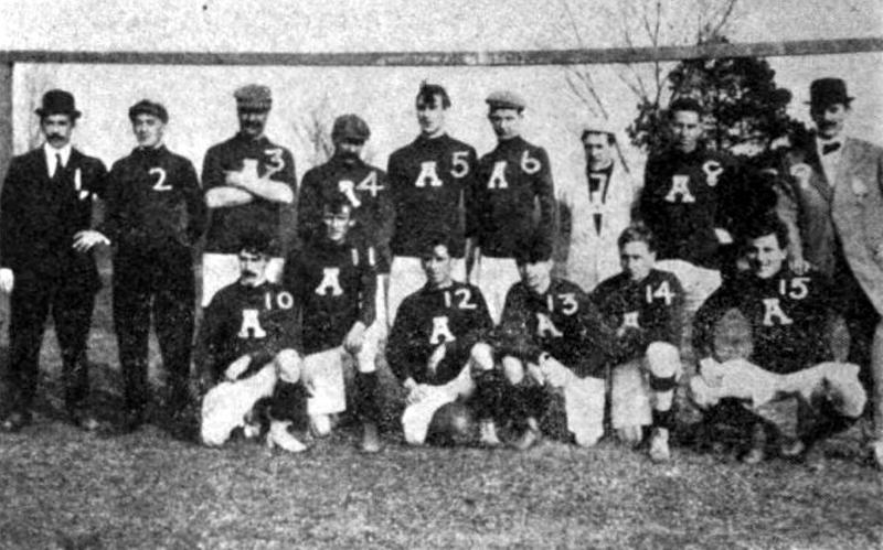 The Atlanta Soccer Football Club had players from both Lithonia and Atlanta. The team, seen here during the 1912-1913 season, played teams representing Chattanooga,Tennessee; Auburn University; and Birmingham, Alabama.