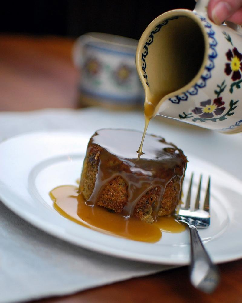 Sticky Toffee Pudding with Kerrygold Toffee Sauce.