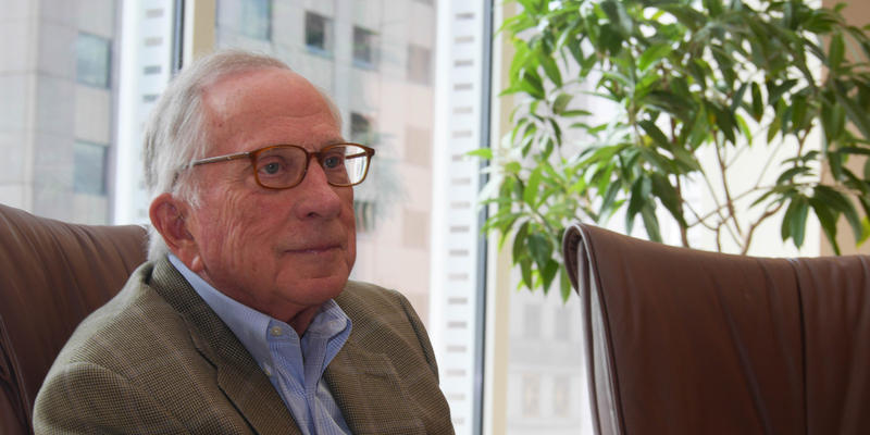 Former Georgia Senater Sam Nunn, co-chair and CEO of the Nuclear Threat Initiative, spoke with WABE's Denis O'Hayer in Nunn's office in downtown Atlanta, on March 10, 2017.