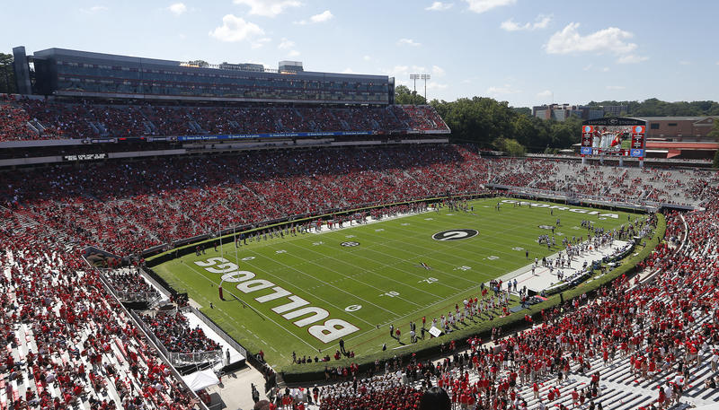 The $63 million project at Sanford Stadium will include several features, including a new video board.