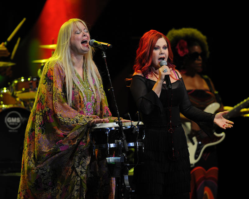 """Cindy Wilson, left, of the B-52s, spoke to """"City Lights"""" about upcoming projects."""