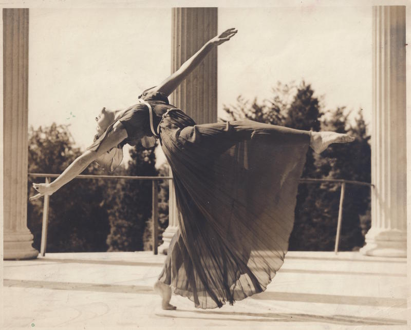 Dorothy Alexander dances at the Alexander Untermeyer estate in Yonkers, New York, 1934.