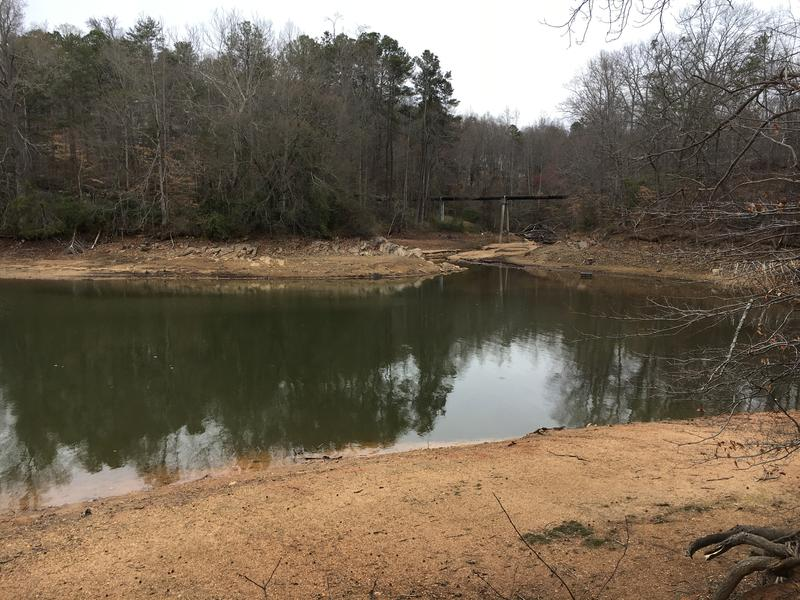 Lake Lanier has been low all winter.