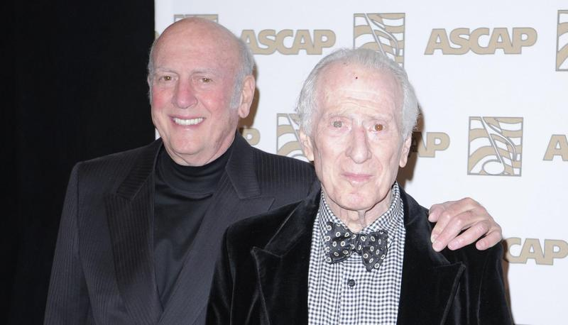 """Musicians Jerry Leiber, right, and Mike Stoller are the songwriting duo behind hits like """"Jailhouse Rock,"""" and 'Stand By Me."""""""