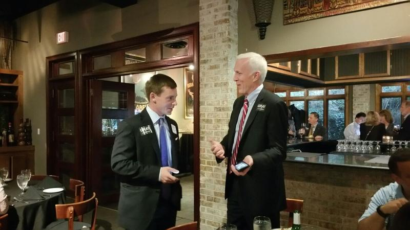 Bob Gray speaking with Brandon Phillips, former Georgia director for President Donald Trump's campaign on Tuesday night.