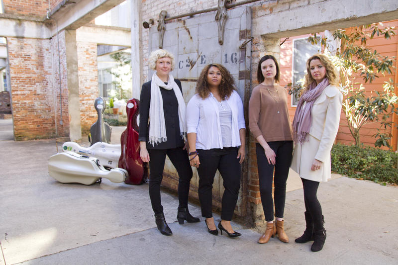 From left, Nan Kemberling, Jessica Messere, Erin Cassel and Mary Beth Bryant form the Atlanta ensemble Celli.