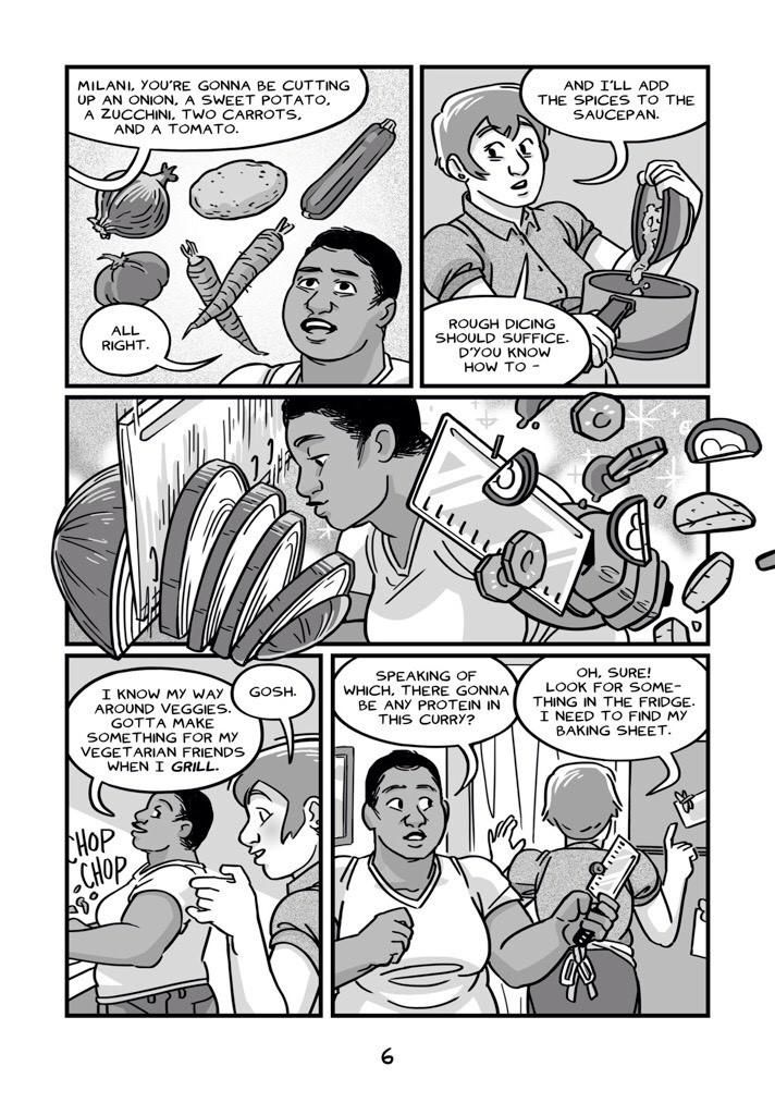 "A sample page from ""Meal,"" a graphic novel about eating bugs."