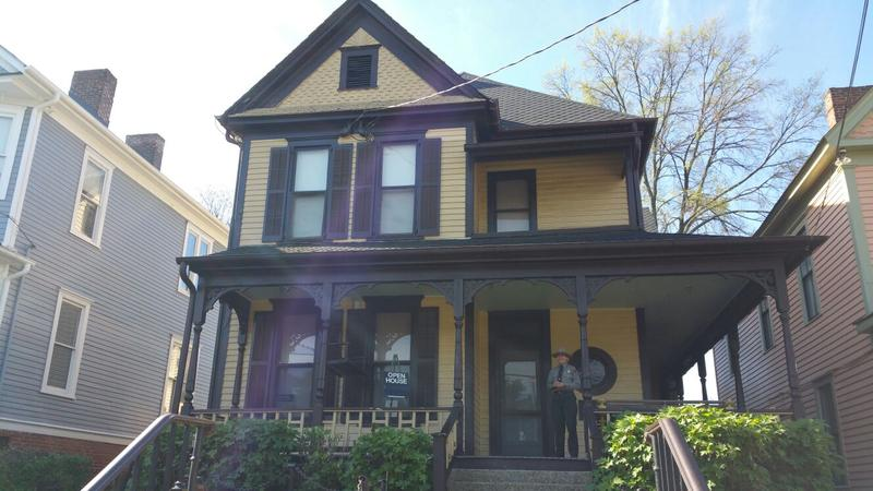 Martin Luther King Jr.'s childhood home on Auburn Avenue in Atlanta has been closed for several months for repairs, and on Tuesday visitors were allowed to tour only the first floor.