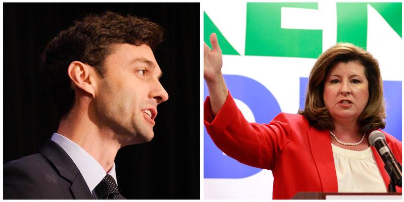 Republican candidate Karen Handel will face Democrat Jon Ossoff in a runoff.