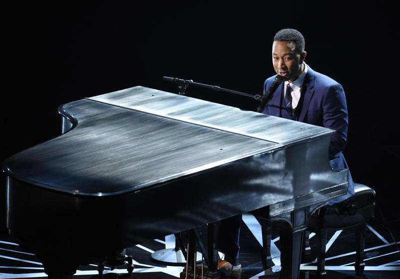 John Legend, performing at the 2017 Oscars, is in concert this weekend at Chastain Park