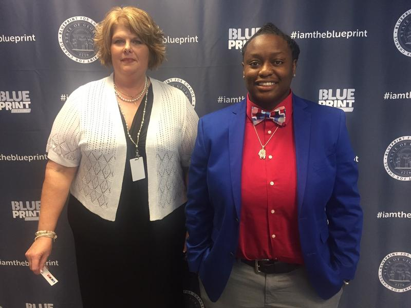 Division of Family and Children Services case managers, like Michelle Doris and Zenique Johnson, will receive training from Georgia State University to identify and treat secondary traumatic stress.