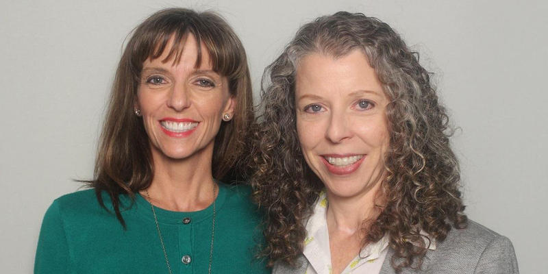 Sisters Brandi Lowe and Lee Ann Gamble talked to each other in the StoryCorps Atlanta booth.