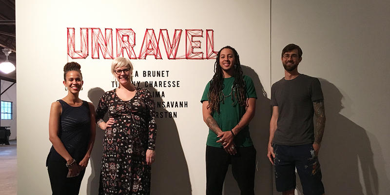 Artists Tiffany Charesse, Lela Brunet, Pash Lima and Shaun Thurston get ready for their exhibition at Notch8