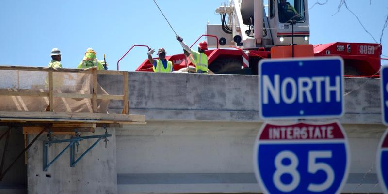 Crews have been working around the clock to complete the I-85 bridge repair.