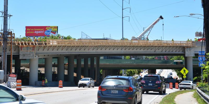 The final phase of the I-85 bridge repair work near Piedmont Road is expected to be finished by the end of May.