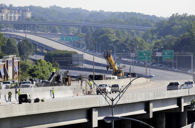 Work on the I-85 bridge project is expected to be done by Monday, at the latest, Gov. Nathan Deal said.