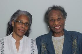 Cecelya Taylor and Margaret Jacobs talked about Jacobs' childhood in the StoryCorps Atlanta booth.