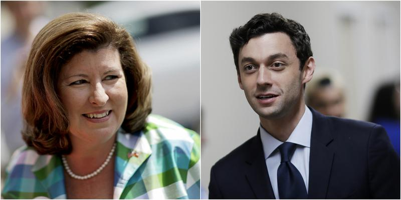 Groups that support or oppose abortion rights spent more than $1 million on the 6th District race between Karen Handel and Jon Ossoff.