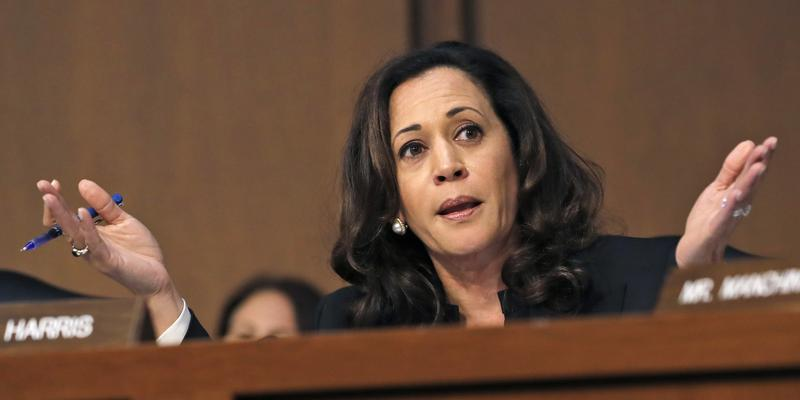 Why couldn't Sen. Kamala Harris ask the tough questions with support from her peers?