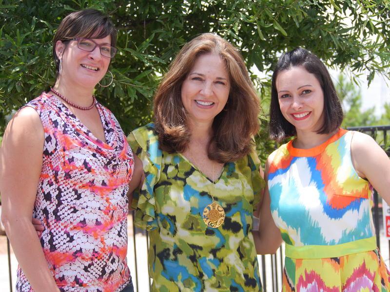 Teresa Rodriguez, Mónica Cucalón and Maria Zaa are with the Latin American Association's Latinas' Economic Empowerment Program.