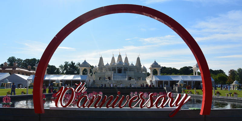 Several thousand visitors are in Lilburn this month to celebrate the BAPS Swaminarayan Sanstha temple's tenth anniversary.