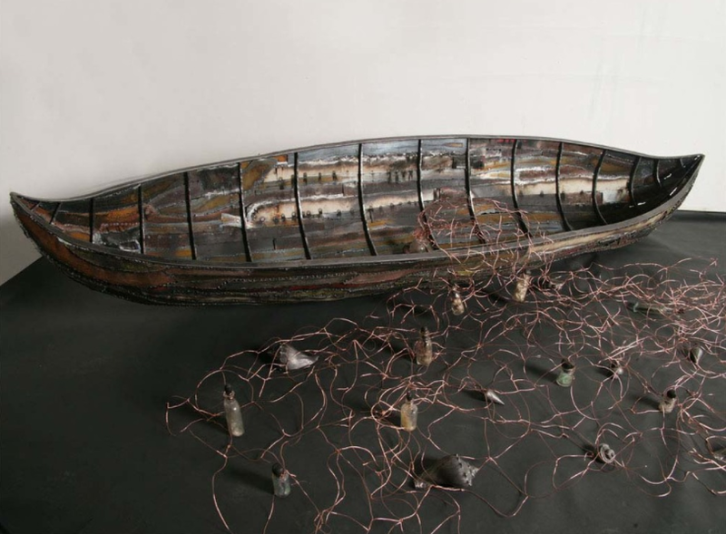 Lois Reitzes speaks with metal artist Corrina Sephora about her solo exhibit ''On Waters of Time,'' which closes at the Callanwolde Fine Arts Center this week.