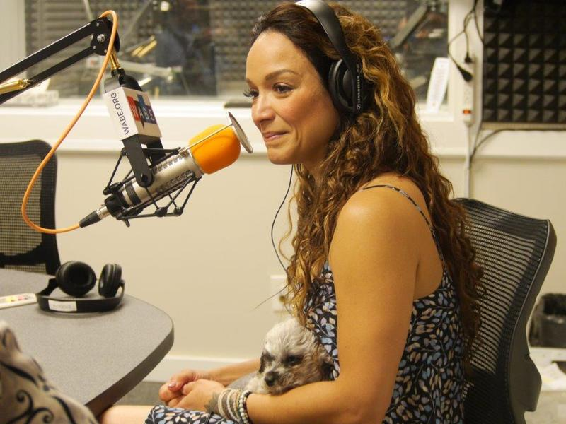 Author Mayte Garcia, is pictured here with her emotional support dog Ziggy. Recently, emotional support pets have made headlines for attacking other passengers on airplanes.