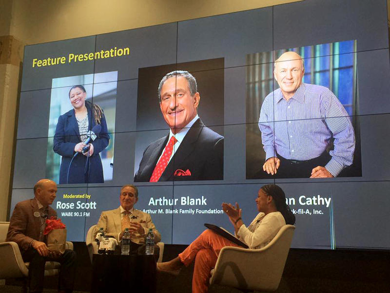At the Transform Westside Summit, WABE's Rose Scott moderated an in-depth conversation with Atlanta CEOs and philanthropists Arthur Blank anand Dan Cathy. The focus was on sustaining initiatives for the west side communities.